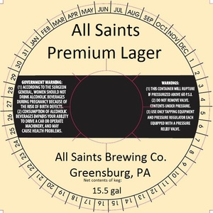 All Saints Brewing Co. Premium Lager