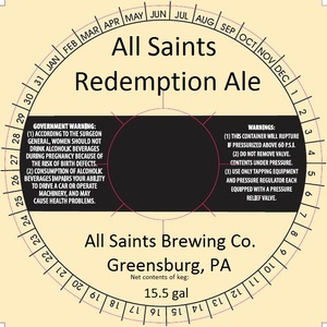 All Saints Brewing Co. Redemption