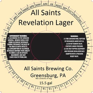 All Saints Brewing Co. Revelation