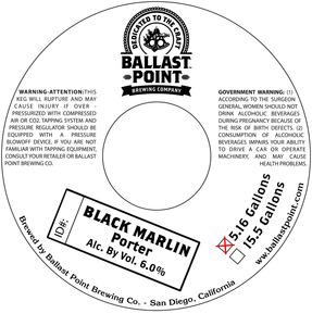 Ballast Point Brewing Company Black Marlin