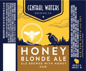 Central Waters Brewing Company Honey Blonde Ale