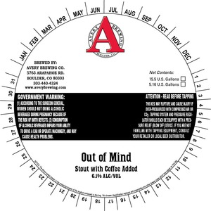 Avery Brewing Company Out Of Mind