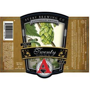 Avery Brewing Company Twenty Xx