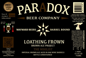 Paradox Beer Company Inc The Nihilist