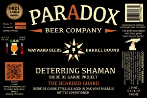 Paradox Beer Company Inc The Bearded Guard