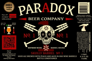 Paradox Beer Company Inc Skully Barrel No. 1