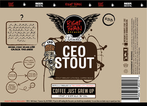 Right Brain Brewery Ceo Stout