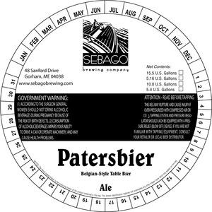 Sebago Brewing Company Patersbier