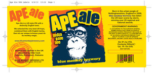 Blue Monkey Brewery Ape Ale