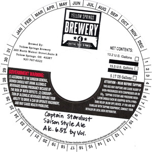 Yellow Springs Brewery Captain Stardust
