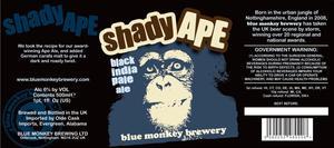 Blue Monkey Brewery Shady Ape Black