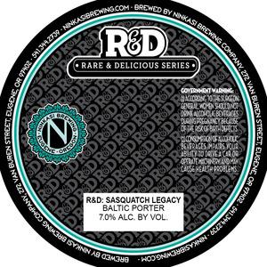 Ninkasi Brewing Company R&d: Sasquatch Legacy