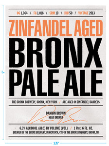 The Bronx Brewery Zinfandel Aged Bronx Pale Ale