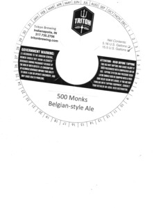 Triton Brewing 500 Monks Belgian-style