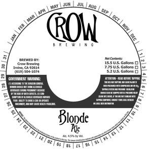Crow Brewing Blonde