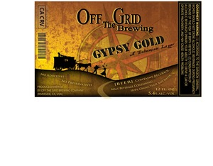 Off The Grid Brewing Gypsy Gold
