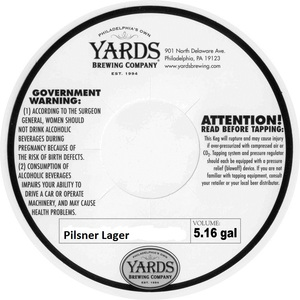 Yards Brewing Company Pilsner Lager