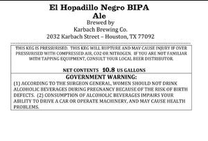 Karbach Brewing Co. El Hopadillo Negro