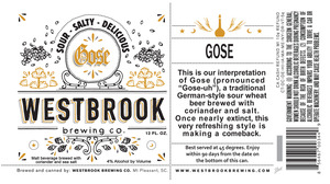 Westbrook Brewing Company Sour Salty Delicious Gose