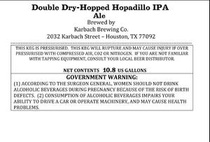 Karbach Brewing Co. Double Dry-hopped Hopadillo