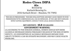 Karbach Brewing Co. Rodeo Clown