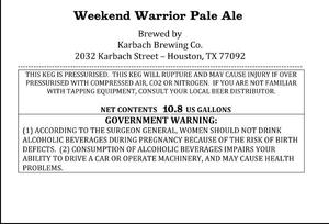 Karbach Brewing Co. Weekend Warrior