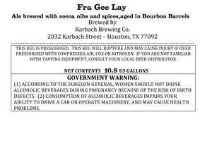 Karbach Brewing Co. Fra Gee Lay