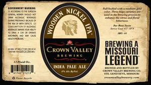 Crown Valley Brewing Wooden Nickel