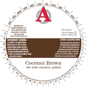 Avery Brewing Company Coconut Brown