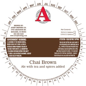 Avery Brewing Company Chai Brown