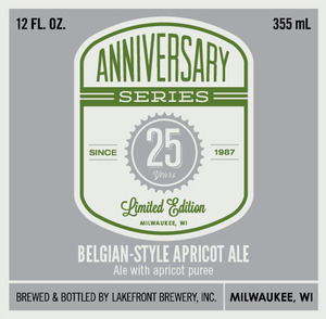 Lakefront Brewery 25th Anniversary Belgian-style Apricot A