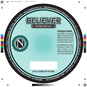 Ninkasi Brewing Company Believer