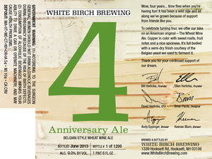 White Birch Brewing 4 Anniversary