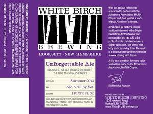 White Birch Brewing Unforgettable