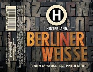 Hinterland Berliner Weisse