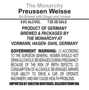 The Monarchy Preussen Weiss