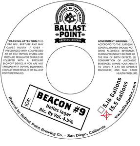 Ballast Point Brewing Company Beacon #9