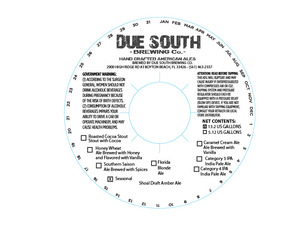 Due South Brewing Co Shoal Draft Amber Ale