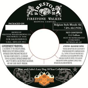 Firestone Walker Brewing Company Lazy Dog