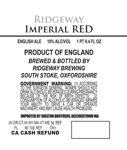 Ridgeway Brewing Imperial Red