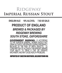 Ridgeway Brewing Imperial Russian Stout