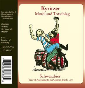 Klosterbrauerei Neuzeller Mord Und Totschlag May 2013