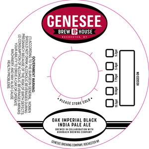 Genesee Brew House Oak Imperial Black India Pale Ale May 2013