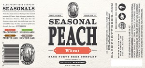 Back Forty Beer Company Seasonal Peach