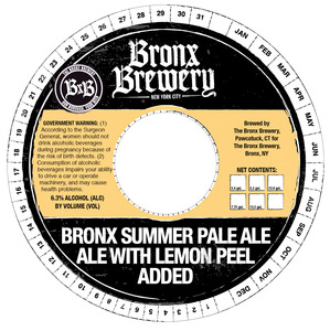 The Bronx Brewery Bronx Summer Pale Ale May 2013