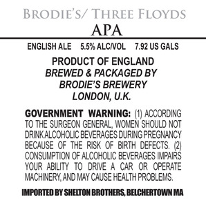 Brodie's Brewery Apa May 2013