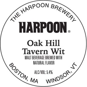 Harpoon Oak Hill Tavern Wit May 2013