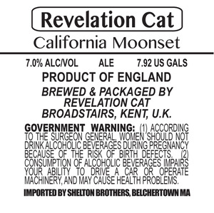 Revelation Cat California Moonset