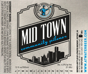 Atwater Brewery Mid Town Community Pilsner May 2013