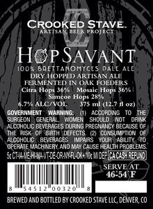 Hopsavant Brettanomyces Pale Ale May 2013